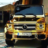 Mercedes G Class Gold chrome 💥. Should I get one like this for my Babolex gang ? 😎. What's your opinion ?  The best comment with the more like win something cool 🔥