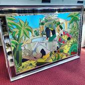 New Frame Aluminum with Babolex Crash Rolls Miror 84x120 cm  9450€  limited to 8 units - artist Vincent Faudemer