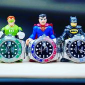 💥Rolex Gang 💥  Hulk Superman Batman with iconic Rolex watches 💎  amazing 📸.